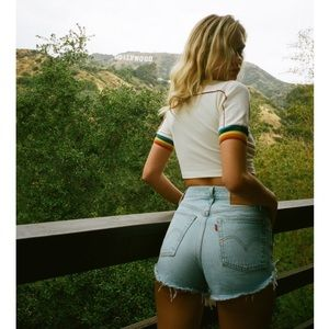 Levi's Wedgie High Waisted Jean Shorts